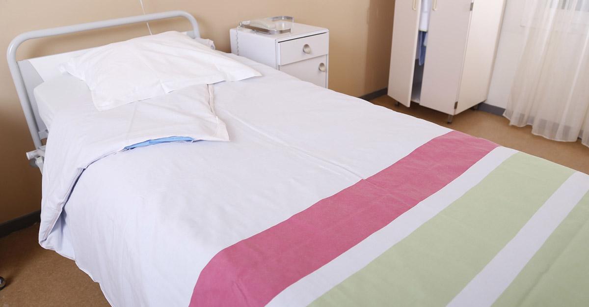 Linge de lit hôpital