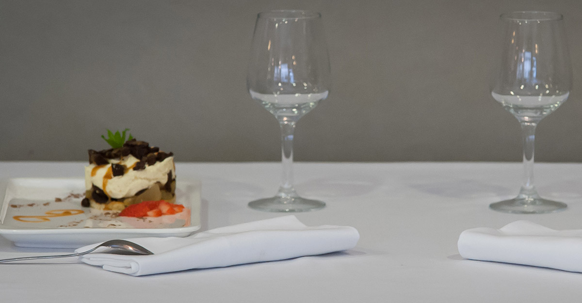 verres et dessert