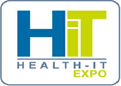 Logo de Health it expo. Salon des professionnels de la santé.