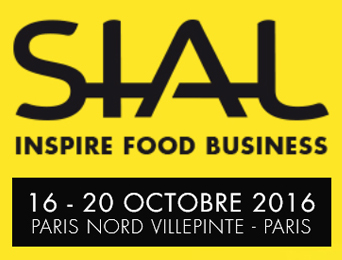 Logo de SIAL. Salon International de l'Alimentation. Il se déroule à Paris du 16 au 20 octobre 2016.