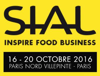 Logo de SIAL. Salon International de l'Alimentation. Il se déroule à Paris du 16 au 20 octobre 2016.