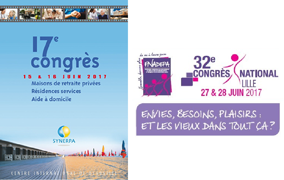 Affiche du Salon de la Santé. Il se déroule en juin 2017 à Beauvais.